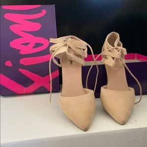 Tan Suede Kitten Heel